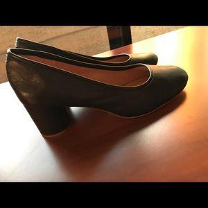 Madewell Reid black leather pumps 9.5